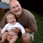 6 mėnesių Pijus su tėčiu