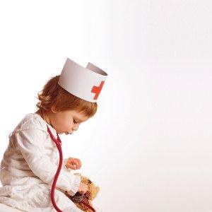 vaikai daktarai
