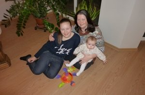 Jolita su dukrytėmis Gabija ir Guste2