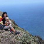 Ant kalno viršaus Tenerifės šiaurėje