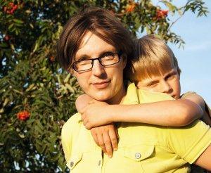 Alvilė su sūnumi