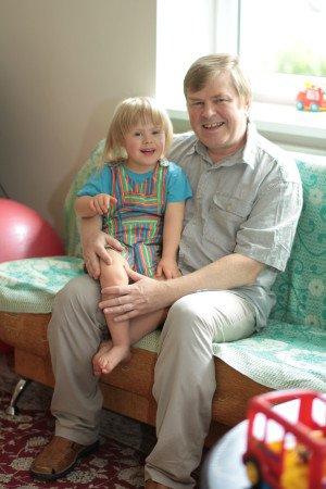 Valentas Aškinis su sūneliu Rapolu