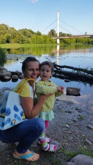 Daugailė su dukrele