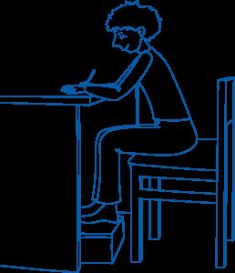 Taisyklingai sėdėsenai labai svarbu stalo aukštis