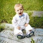 Per krikštynas Emilis buvo papuoštas močiutės 34 metus saugotais tėčio krikšto rūbeliais.jpg