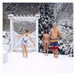 seima ant sniego namuose vilniuje