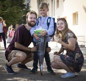 Linos vaikai Ugnė, Paulius ir Benas