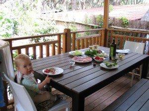 Pusryčiai terasoje