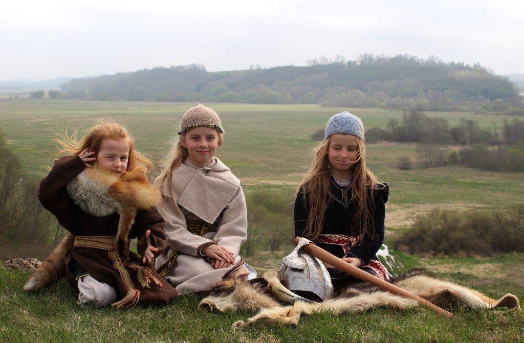 Daugvilė (7 m.), Gailė (10 m.) ir Symantė (12 m.)