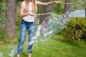 Milžiniški muilo burbulai