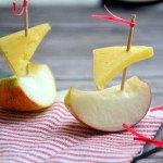 Obuolių laiveliai su sūriu