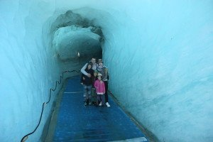 Prancūzijos ledynas, vadinamas Ledo jūra (Mer de Glace)