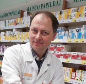 Gintarinės vaistinės vaistininkas Kęstutis Beržinis
