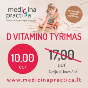 vitamino D tyrimas